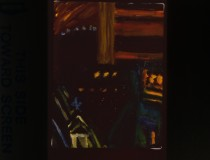 """Night Painting, # 31"", oil canvas, 12"" x 9"", 1997"
