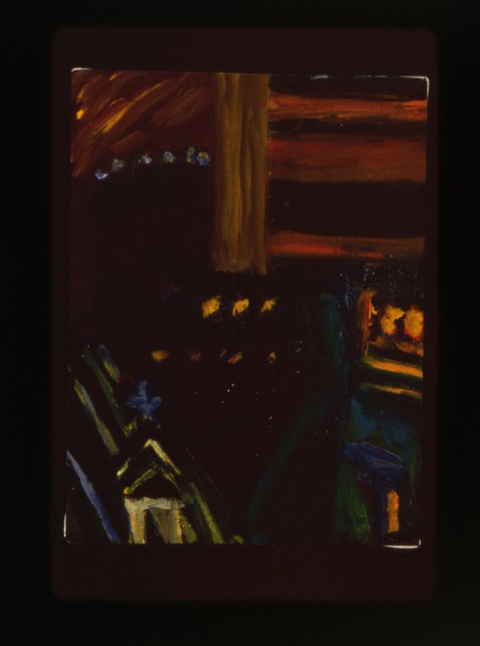 """Night Painting, # 31"", oil on canvas, 12"" x 8"", 1997"