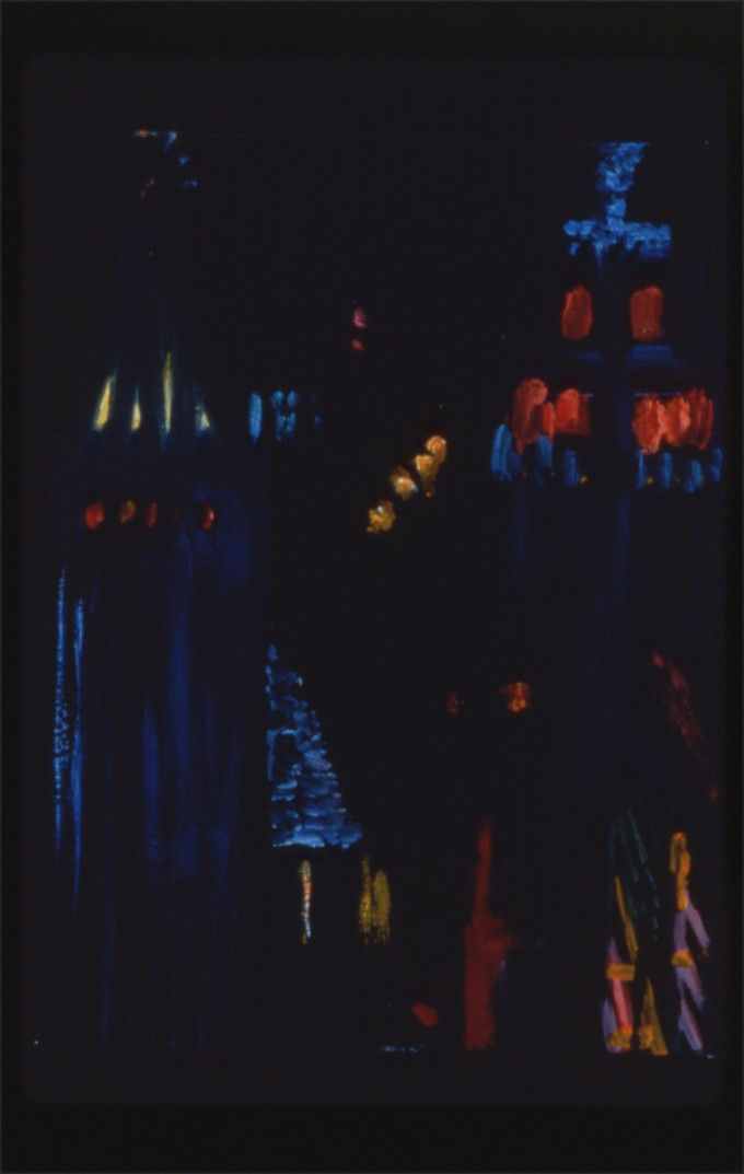 """Night Painting, # 27"", oil on canvas, 16"" x 12"", 1997"