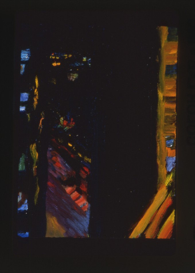 """Night Painting, # 29"", oil on canvas, 12"" x 9"", 1997"