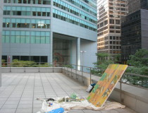 Painting on site, 601Lexington Avenue